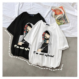 2021 eminem camiseta Mens designer T-shirt rapper Eminem Harajuku neutral short sleeve t shirt I'm not afraid printed street T-shirt DHBOMC169 eminem camiseta barato