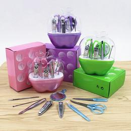 Apple en acier inoxydable Kits d'outil à ongles 9pcs / set mode miroir ongles maquillage outils de voyage Set manucure + DHL livraison gratuite ? partir de fabricateur