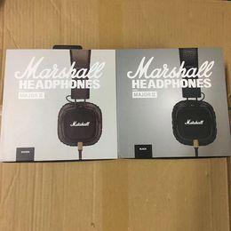 2019 auricolari rocciosi Marshall Major II Cuffie con microfono Cuffia da gioco Cuffie da studio Deep Bass Studio Cuffie da DJ Rock Cuffie Hi-Fi sconti auricolari rocciosi