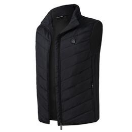 2018 новых мужчин женщин электрический обогрев жилет отопление жилет USB тепловой теплой ткани перо горячей продажи зимняя куртка теплый твердый танк от