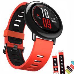 d34717f01da0d 2019 banda de reloj universal 22mm correa de correa de reloj de silicona  para Amazfit ritmo