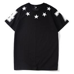 Canada Hommes De Luxe Designer T-shirt Designer Casual Manches Courtes De Mode Étoiles Impression de Haute Qualité Hommes Femmes Hip Hop Tees Offre