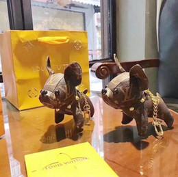 figura de navio de uma peça por atacado Desconto 2019 hot new moda acessórios chaveiro borla chaveiro Luxurys marca PU padrão de filhote de cachorro de couro carro chaveiro jóias saco de jóias com caixa