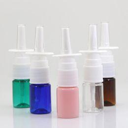 Botellas de spray para mascotas online-5 ml PET colorido fine Nasal Spray botella de plástico niebla, estética de la nariz LX6773 botella del aerosol
