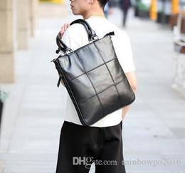 factory sales brand new mens Leather Laptop Bag Korean single shoulder bag  handbag men Plaid leisure Street Style 62c9c97c3b721