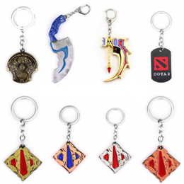 dota figures Promo Codes - Dota 2 Logo Pendant Vintage Keychain dota2 Key Chain Figure Toy Jewelry Accessories Gift Keyring Keychains jewelry For key