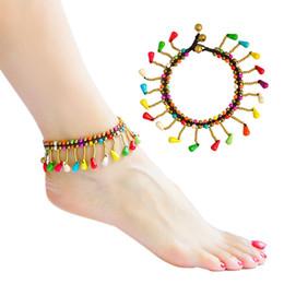 Pulsera de pino estilo bohemio, cadena de pie de playa de verano, joyería al por mayor desde fabricantes