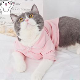 Roupas de compras grátis on-line-Francês verão novo unisex preto rosa cat trajes de tricô two-legged roupas presente para pet free shopping