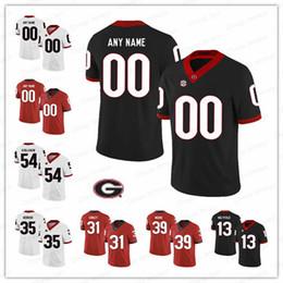 2019 roseau rouge Sur mesure NCAA Georgia Bulldogs maillots rouge noir blanc 16 Demetris Robertson 20 maillots de football collégés JR Reed