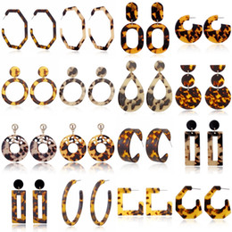 fashion circle long earrings Coupons - Free DHL 28 Styles Fashion Leopard Statement Earrings Acrylic Earrings Geometric Circle Square Long Drop Ear Stud Women Girls Jewelry M052F