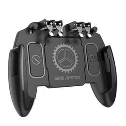 2019 contrôleur de ventilateur M10 Six Finger PUBG Mobile Controller Gamepad Game Trigger Objectif Bouton L1 R1 Joystick avec refroidisseur ventilateur de refroidissement contrôleur de ventilateur pas cher