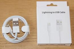 Pin della linea di cavo online-Cavo di ricarica da 1M 3FT MFi a 8 pin da USB a cavo USB Cavo di ricarica per caricabatterie con scatola di vendita al dettaglio per iphone 5 6 7 8 X XS Plus 9 6S