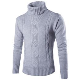 Suéter masculino Suéter delgado cálido sólido de alta solapa Jacquard Cobertura Ropa de hombres británicos Cuello alto para hombre desde fabricantes
