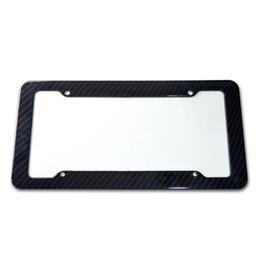 2019 placa de licença remota Acessórios para carro modificado Qualidade Quadro de matrícula de fibra de carbono durável Quadro de matrícula de borda fina e suave