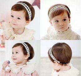 Bebek Kız Bantlar Kore dantel Rhinestone Prenses Şapkalar Çocuklar Elastik Şerit Hairbands Çocuk Saç Aksesuarları Headdress nereden