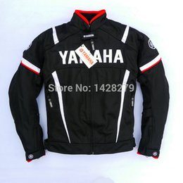 summer motorcycle jacket xxl Promo Codes - Summer Racing Jacket with Protectors for YAMAHA M1 Team Motocross Motorcycle Mesh Cloth Riding Jacket with windproof lining