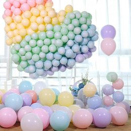 candy ball decorations Coupons - 100pcs Macaroon Candy Pastel Latex Balloons 10 inch Balloons for Birthday Party Inflatable Balloons Balls Wedding Decoration Party Supplies