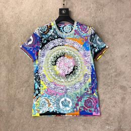 modelli giacche da donna Sconti T-shirt da uomo a maniche corte stampa floreale estiva paio modelli T-shirt girocollo tide marchio manica corta 2019 nuovo caldo