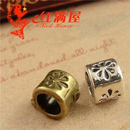 A3790 11 * 8 * 5 MM bronze Big hole beads feitos à mão DIY acessórios de jóias por atacado loja, granel tibetano pingente charme conector cabide fiança de Fornecedores de loja de charme atacado
