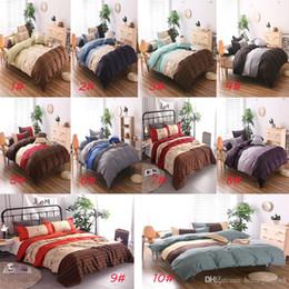 Capa de Edredão Conjuntos de capas de Edredão Home Textiles listrado colcha + fronha várias cores e tamanhos de cama têxtil de casa de