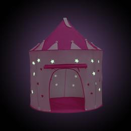 ropa de cama princesa moderna Rebajas Nueva llegada 105X135 CM Grow Carpa iluminar niños jugando juegos carpa de color rosa casa de princesa niños juguetes de navidad suministros