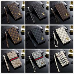 2019 универсальный кошелек кошелька сотового телефона Дизайнерский телефон кожаный чехол для iPhone XR XS MAX 8 7 Samsung S10 S10E S10 + S9 S8 Plus Note9 Note8 Чехол