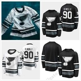 Billig sterne qualität online-Günstige 2019 All Star Herren 90 Ryan OReilly St. Louis Blues Black White Blank hochwertige Männer genähtes All-Star-Patch Hockey Jersey