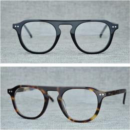 китайские игровые компьютеры Скидка Пилотная импозированная ацетатная оправа для очков мужская модная ретро-очки для женщин, близорукость, оптические очки без рецепта