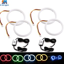 lampade di angelo Sconti 4Pcs (2set) 80MM 95MM LED Angel Eyes Halo Rings RGB Wireless APP Control Daytime Running Light Car Driving Lamps For Headlight