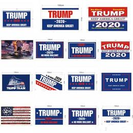 ленточные баннеры Скидка Шестнадцать отличается Дональд Трамп пользовательских флаг 90 * 150 см американские президенты баннер партии семьи сад баннер T3I5060