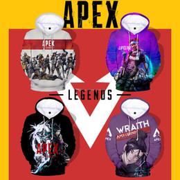 Chemises complètes occasionnels en Ligne-Apex Legends 3D et numérique 3D pour adultes et enfants Apex Legends Hero Impression numérique Printemps et été Sweat à capuche