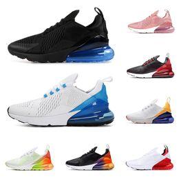 Zapatos de tigre para hombres online-2020 nike air max 270 zapatillas de running para hombre mujer entrenador triple negro blanco Bred Tiger azul marino para hombre zapatillas de deporte al aire libre