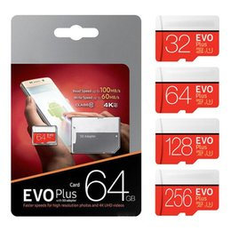 4gb kamera blitz Rabatt 2019 Hot EVO PLUS + 256GB 128G 64GB32G TF Flash Memory Card 95MB / s Class 10 mit SD-Adapter Blister-Paket