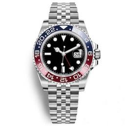 Argentina 2019 Venta caliente Reloj de pulsera para hombre Reloj de acero inoxidable azul bisel azul negro 116710 Movimiento automático GMT Reloj limitado Nuevo Jubileo Maestro Suministro