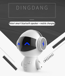 2019 robô multifuncional Alto-falantes bluetooth Robô inteligente de carregamento de áudio do Bluetooth tesouro do telefone móvel mini cartão multi-função pequeno alto-falante Suporte 1 PCS entrega desconto robô multifuncional