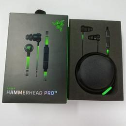 2020 cuffie di razer Nuove cuffie Razer Hammerhead Pro V2 In Ear Auricolari con microfono Cuffie da gioco Isolamento acustico Bassi stereo sconti cuffie di razer