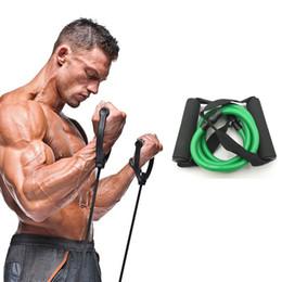 Gomme a pedale online-Fasce elastiche di resistenza di yoga di 120cm Corda di trazione Corde sportive di allenamento di allenamento Espansore di tensione di gomma Banda Elastica Q