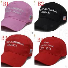 Canada Broderie Trump 2020 Make America Great Again Donald Trump Casquettes de baseball Chapeaux Casquettes de baseball Adultes Sports Chapeau LJJK1031 Offre