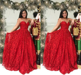 black white sequin prom dresses Coupons - Red Lace Beaded Elegant Formal Evening Dresses 2019 Strapless Open Back Ruched Red Carpet Dress Prom Dresses Long Cheap Formal Gowns