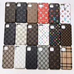 giù iphone Sconti Di cuoio di lusso di caso per iPhone 11 Pro X XS Max XR 8 7 6S Caso Brand Protection posteriore del telefono della copertura Coque per Samsung S10 S9 S8 Nota S10 9 8