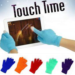 2019 продать samsung galaxy s5 Красочные зима теплая сенсорный экран перчатки Емкостный экран проводящая хлопок перчатки зондирования Telefingers перчатки для iphone x ipad Samsung Примечание 8 s8