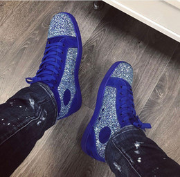2021 nomi per le coppie Nome prezzo all'ingrosso Brand Brand Bottom Bottom Sneakers Man Casual Donna Strass Crystal Suede Trainer Couple Skateboard Scarpa