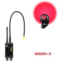 Rivelatori di tracciamento online-Rilevatori RF Bug Detector M8000 Camera Finder GPS Tracker X Finder fotocamera Scanner Dispositivo Anti Spy Lens CDMA GSM Finder Monitor