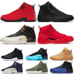 Nike Air Jordan retro 12 Winterized WNTR Gym Red Bulls Mens 12 12s scarpe da basket Michigan Bordeaux The Master Flu Game taxi XII scarpe da ginnastica sportive sneakers taglia 7-13 da