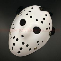 Черная пятница Джейсон Voorhees Фредди хоккейный фестиваль партия полный Маска чистый белый 100GRAM ПВХ для Хэллоуина маски 20 шт. / лот от