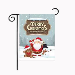 bandiere decorativi da giardino Sconti Ornamento decorativo dell'interno stampato casa americana stampata della casa del giardino della decorazione della bandiera della decorazione della bandiera della bandiera di Natale