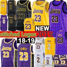 8c0b104c67c 2019 Los Angeles 23 LeBron James jerseys Mens 2 Lonzo # Ball 0 Kyle # Kuzma 14  Brandon # Ingram 24 Kobe 8 Bryant