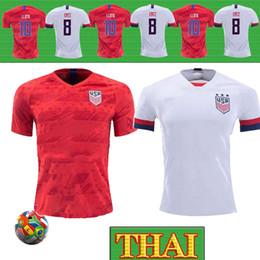 2019 tailandia camiseta de los hombres Tailandia 4 Estrellas 2019 de la Copa Mundial Femenina de Fútbol jerseys LLOYD MORGAN RAPINOE maillot de pie PULISIC DEMP Estados Unidos camiseta de los hombres tailandia camiseta de los hombres baratos