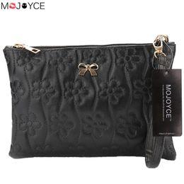 enveloppes ouvertes Promotion Vintage femmes en cuir bandoulière sac petite fleur enveloppe sac dames épaule solide Messenger embrayage sac à main sacs à main # 630765
