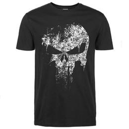 2019 тройники Мужские дизайнерские футболки для мужчин Skull Hip Hop tshirt Каратель Super Hero Harajuku летняя майка уличная дешево тройники
